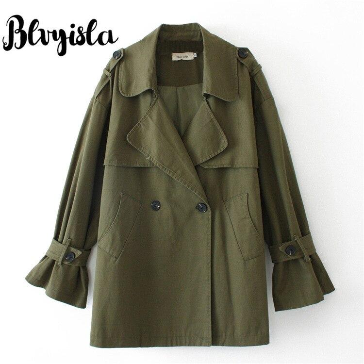 Blvyisla 100kg abrigo de gran tamaño mujer estilo Vintage Punk vapor Trench Otoño Invierno fino Outwear novio estilo Tops