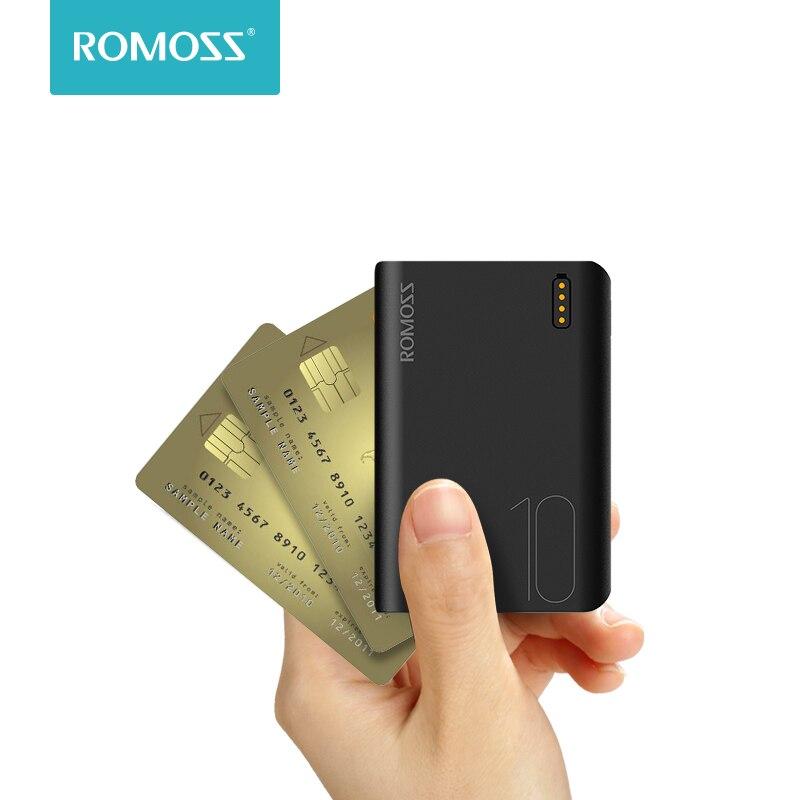 Пауэрбанк ROMOSS Sense4, 10000 мАч, быстрая зарядка, 10000 мАч   Мобильные телефоны и аксессуары   АлиЭкспресс