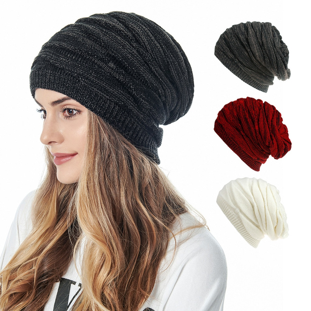 Unisex Beanie Hats Skiing Plush Fashion Keep Warm Winter Hats Knitted Cotton Hat Windproof Cap Thick Caps шапка бини мужская 5* недорого