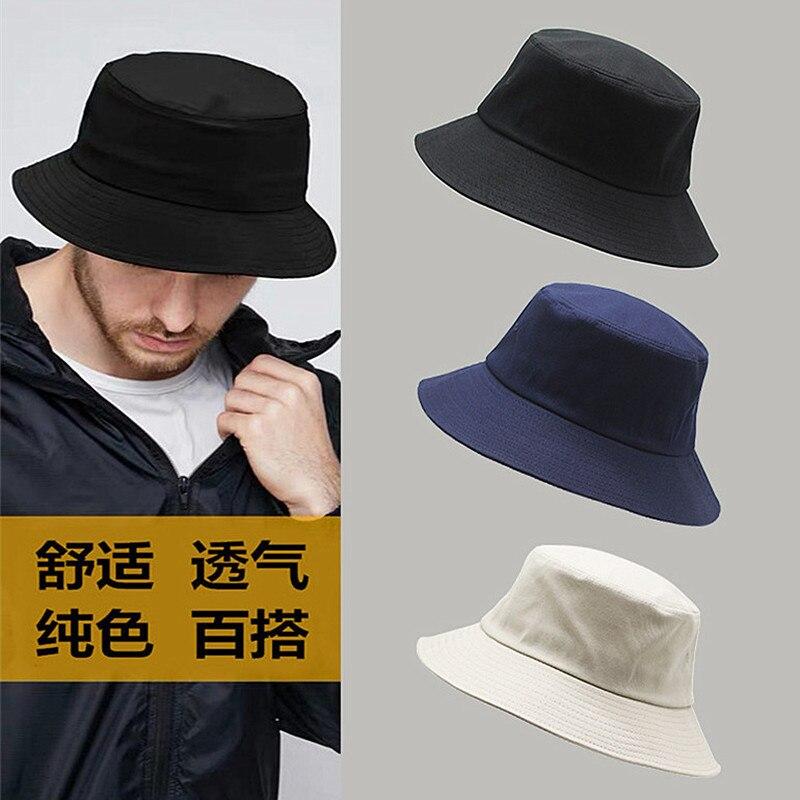 Sombrero de pescador blanco de talla grande para hombre con cabeza grande, sombrero de pescador puro de algodón, Sombrero panamá de talla grande, sombreros de cubo 54-57cm 57-60cm 60-63cm