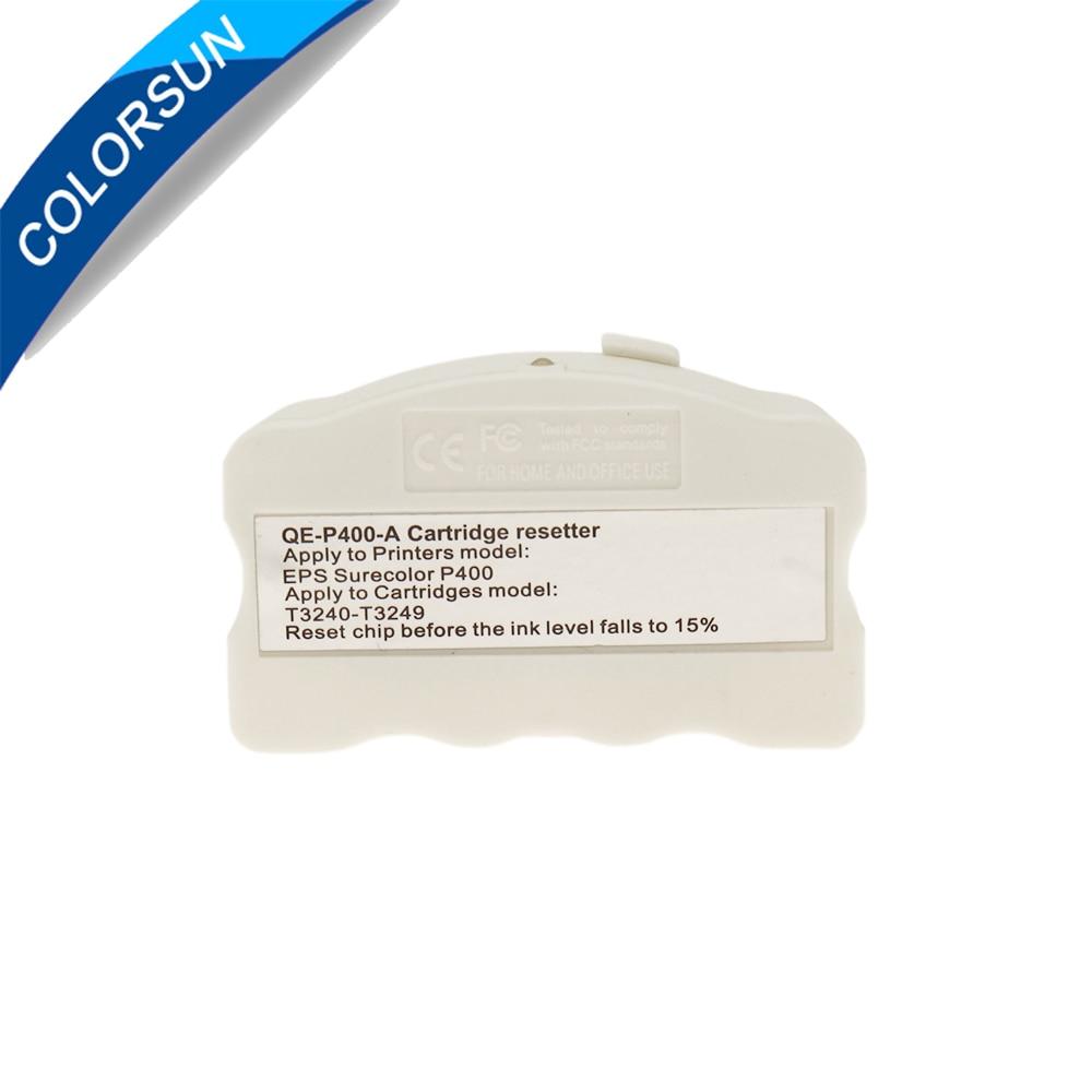 Colorsun P400 Chip reiniciador para Epson Surecolor P400 cartucho chip reiniciador