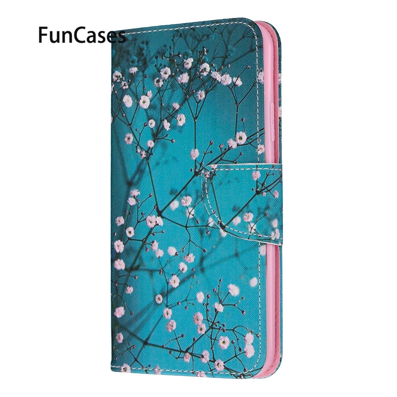 Fundas celulares para estojo Samsung M30 Plum Blossom PU Funda de cuero...