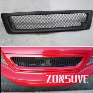 Use For Mitsubishi Lancer Cedia Sedan 2002 2003 Carbon Fibre Refitt Front Center Racing Grille Cover Accessorie Body Kit Zonsuve