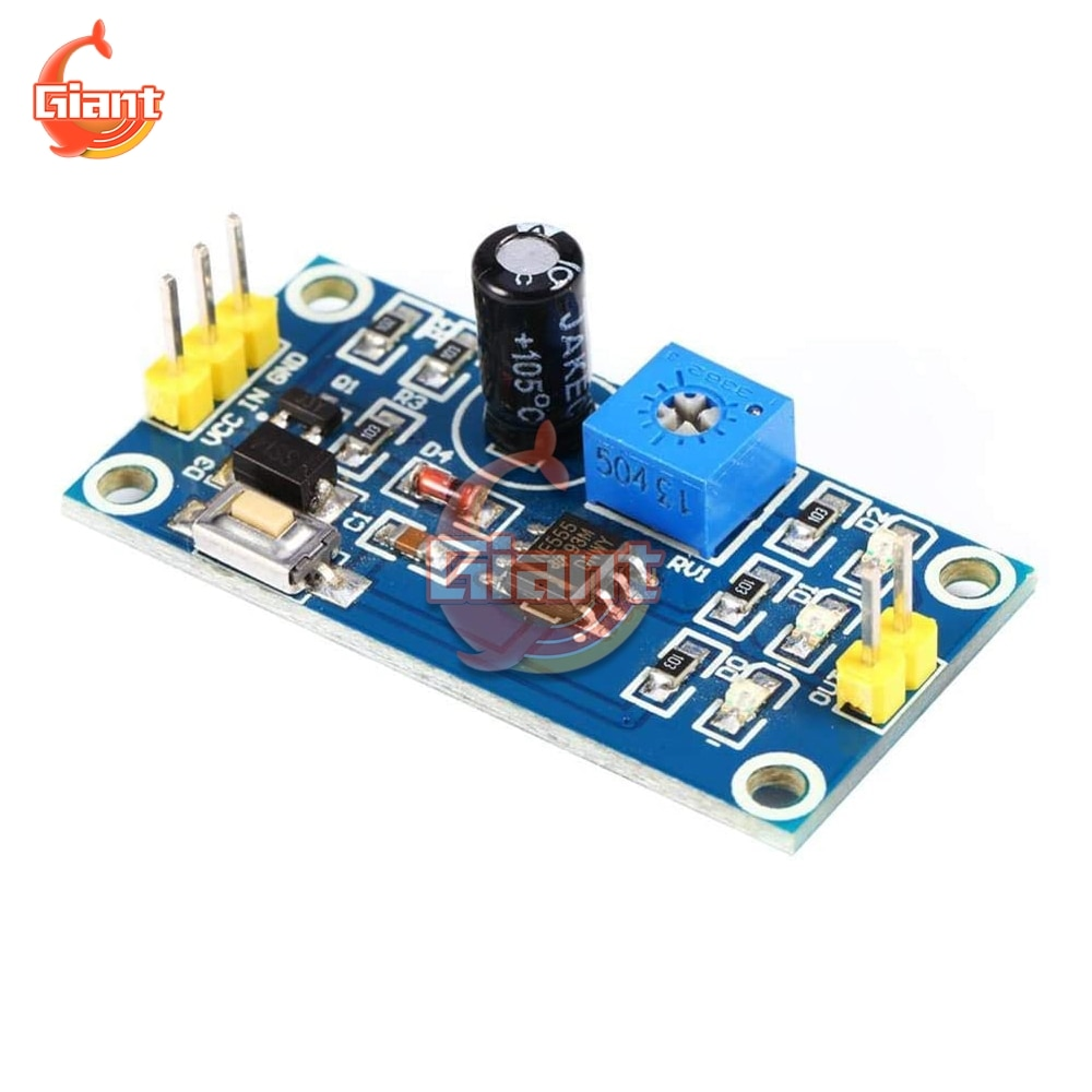 NE555 DC 5V 12V relé de retardo de tiempo integrado botón de prueba placa DIY temporizador interruptor controlador ajustable módulo 0-150 segundos