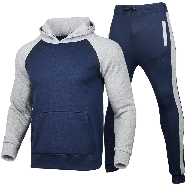 Casual sportswear men 2-piece hooded sweatshirts spring men's clothing pullovers hoodies pants suits