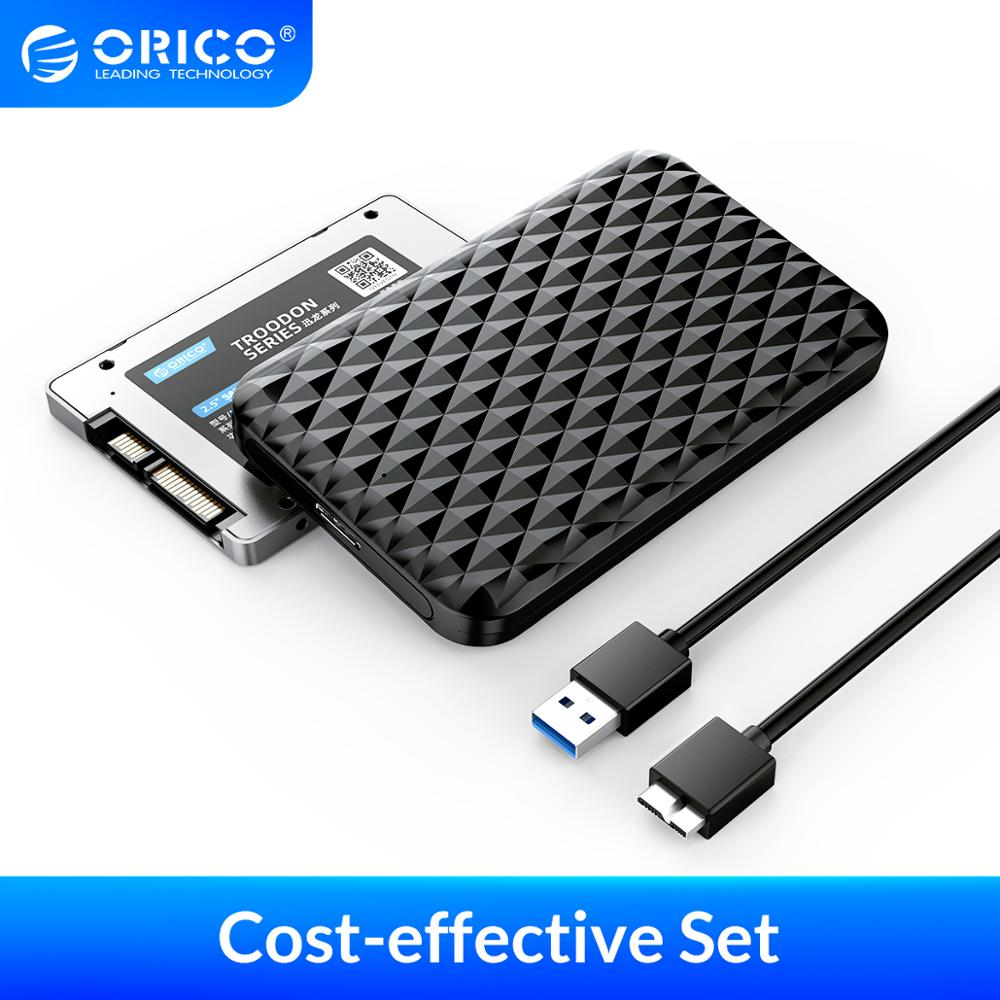 ORICO 2.5'' DIY Portable Hard Drive 2.5 Inch SATA3.0 SSD with USB 3.0 HDD Enclosure Case Support UASP HD 5Gbps External SSD PSSD