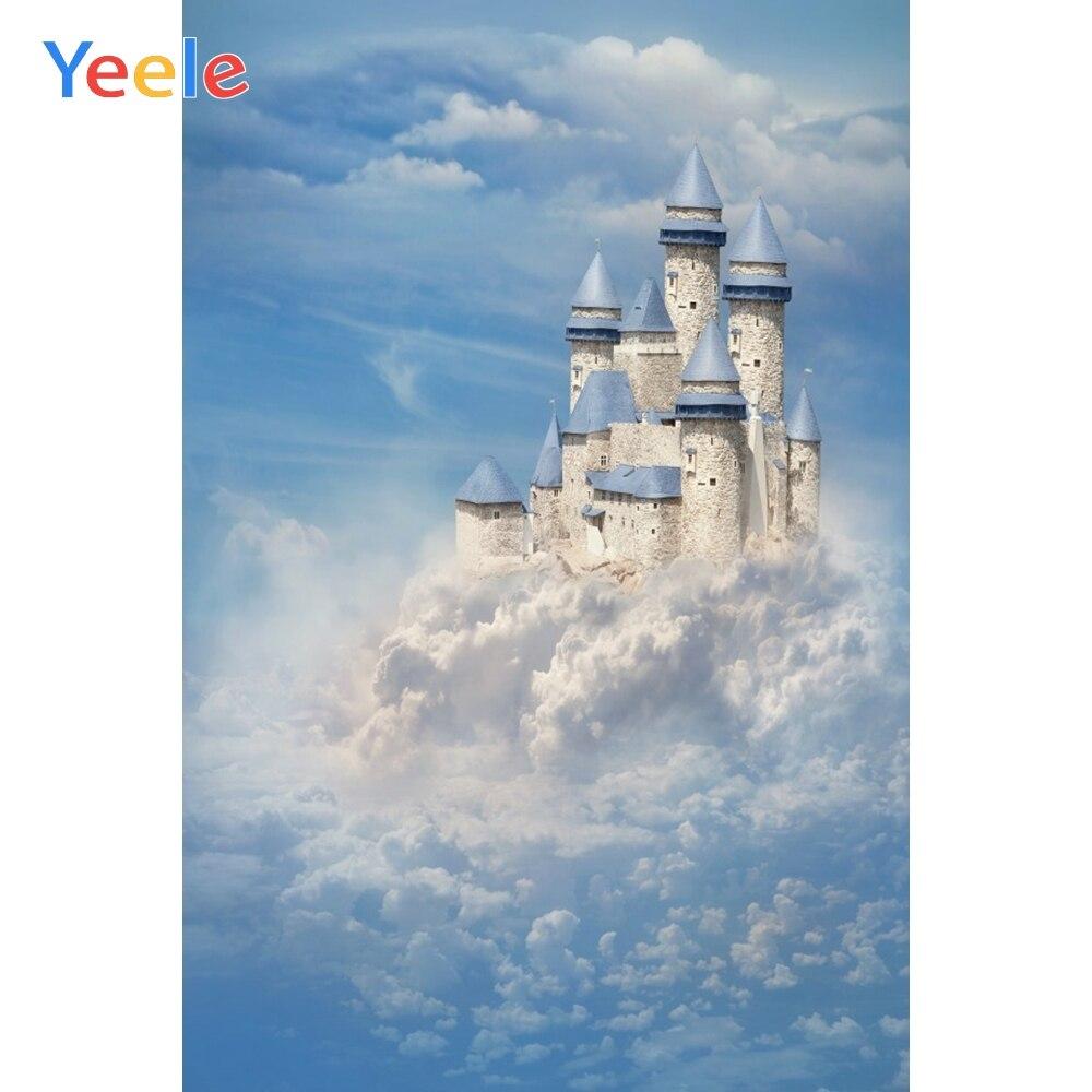 vintage airplane adventure photography backdrops baby cake smash portrait background blue sky white clouds photo studio prop Yeele Fairytale Blue Sky Clouds Castle Baby Newborn Portrait Photography Backgrounds Custom Photo Backdrops For Photo Studio