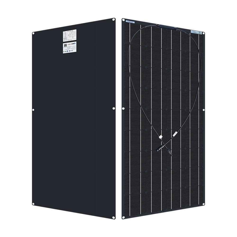 120 واط 18 فولت وحدة مرنة لوحة طاقة شمسية 12 فولت عدة أحادية خلية مع قوة تحكم للأسرة بطارية التخييم RVs يخت شحن