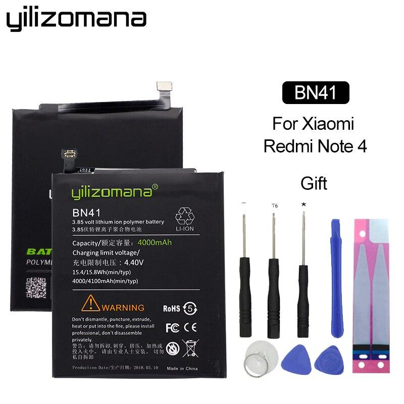 YILIZOMANA de reemplazo de batería del teléfono BN41 BN43 BM22 BM46 BM47 para Xiaomi Mi 5 Redmi 3 Pro 3 3S 3X nota 3 Pro 4 4X MTK Snapdragon