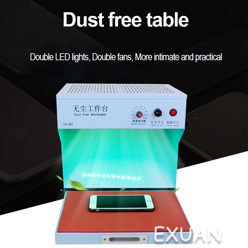 Mobile Phone Film Repair Universal Pressure Screen Dry Glue Cleaning Film Dust-free Workbench Filtration Purification enlarge
