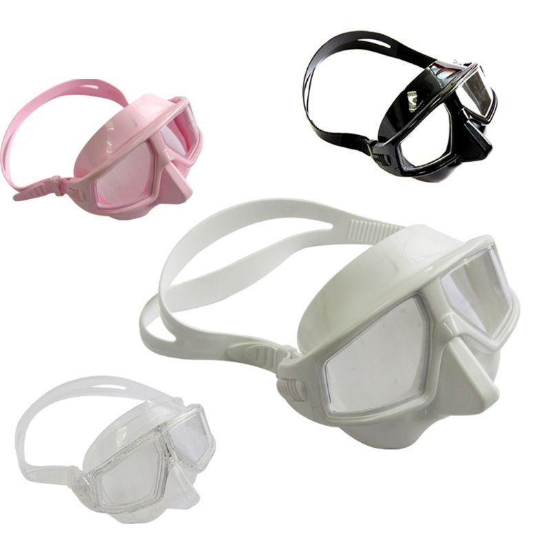 Adjustable Free Diving Goggles Anti-fog Waterproof Snorkeling Scuba Dive Glasses W89F