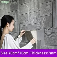 self adhesive 3d imitation brick tile wall stickers bedroom bedside decor tv background waterproof simulation stone wallpaper