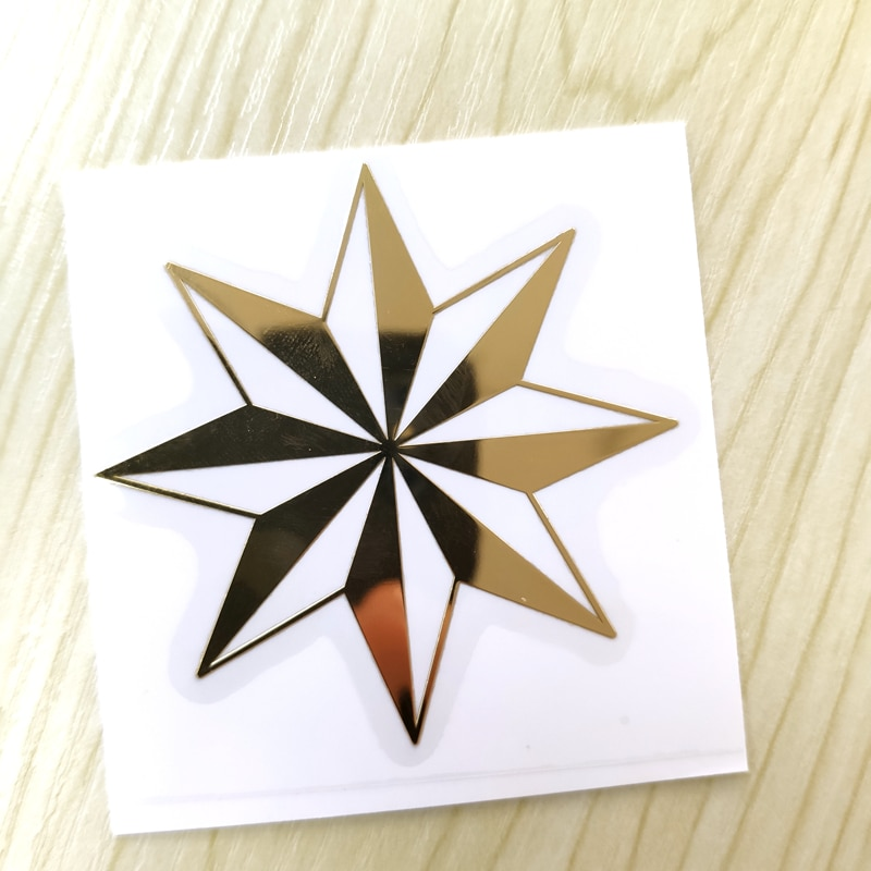 Pegatinas de metal para coche JS-012 #6*6cm Thieves star cool 3D nickel para teléfono portátil