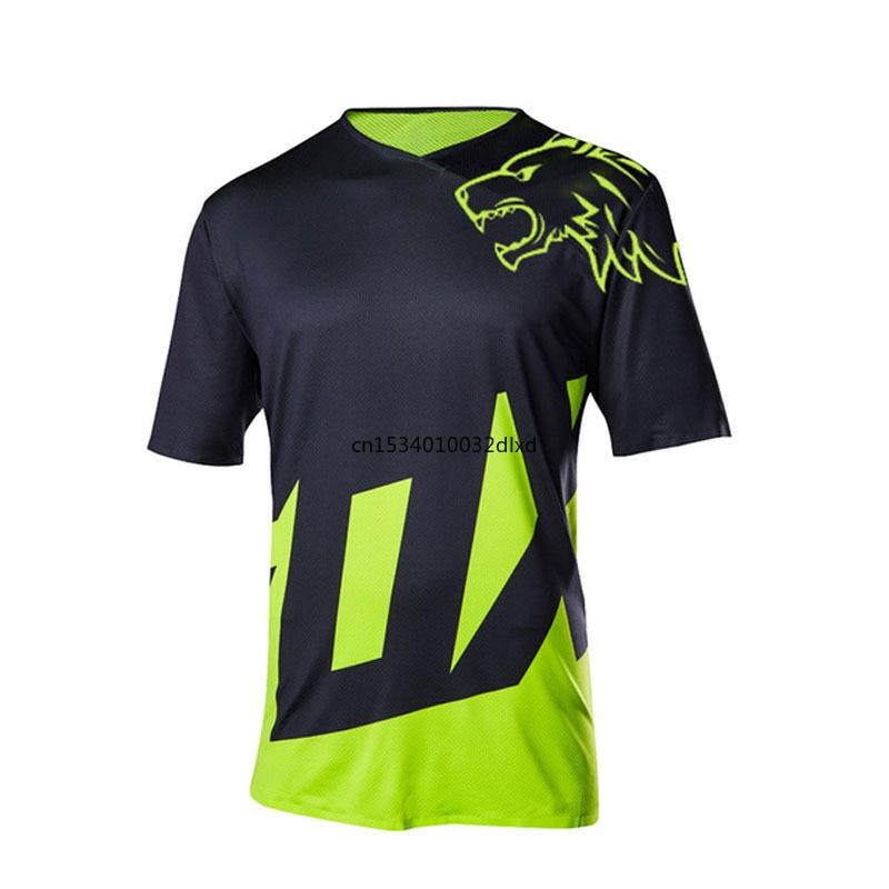 Homem-camisa enduro para ciclismo, ropa para descenso, mx, maillot, mtb, 2021