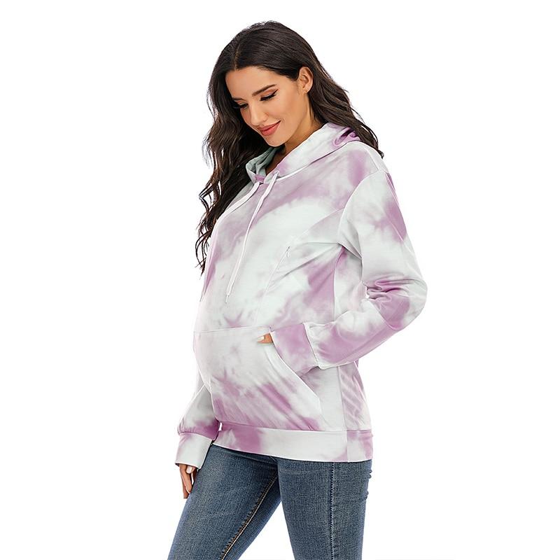 2021 New Women Hoodie Sweatshirt Clothes Female Nursing Clothes Zipper Breastfeeding Design Thicker Pullovers Hood Oversized enlarge