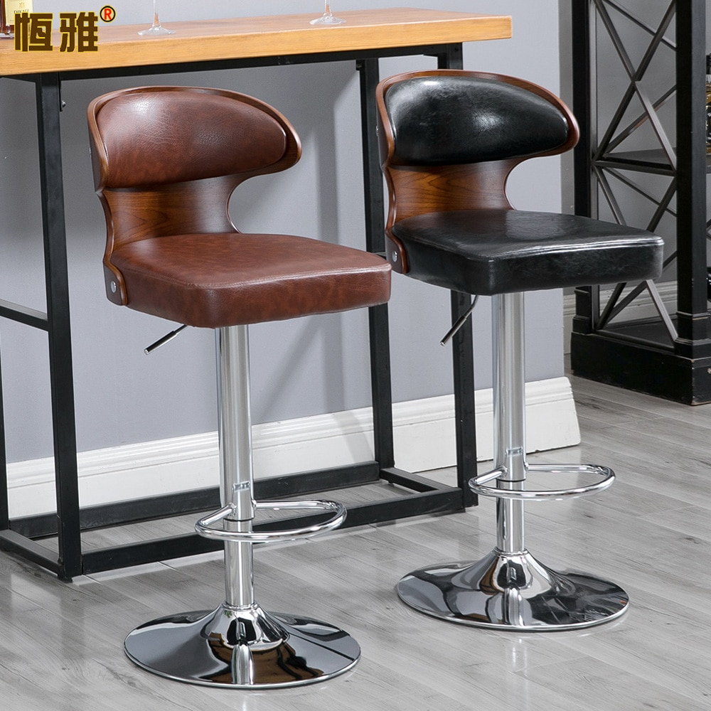 Muebles De comedor nórdicos, Taburete De Cocina De Metal con elevación giratoria,...