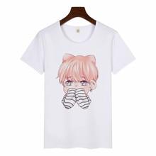 Tee shirt femme SUGA JIMIN album Harajuku tee shirt graphique femme coréen tee shirt imprimé haut Kawaii dessin animé tee shirt femme