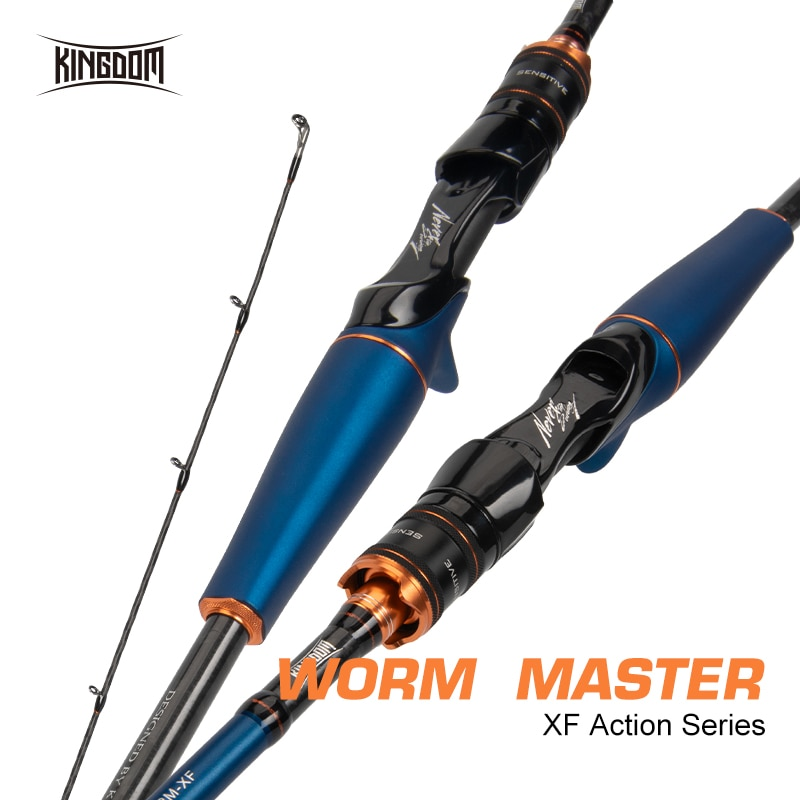 Kingdom WormMaster Fishing Rods Spinning Casting Rod XF Action L ML M MH Fuji Guide Baitcasting Lure Rod For Fishing Accessories