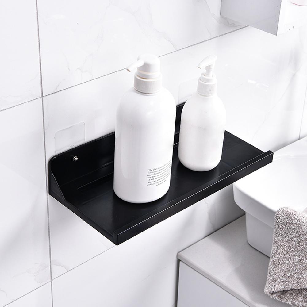 ABS No taladro estante de almacenamiento hogar ducha Gel soporte de la botella de champú estante gancho tejido tienda de papel montura organizadora decoración de baño