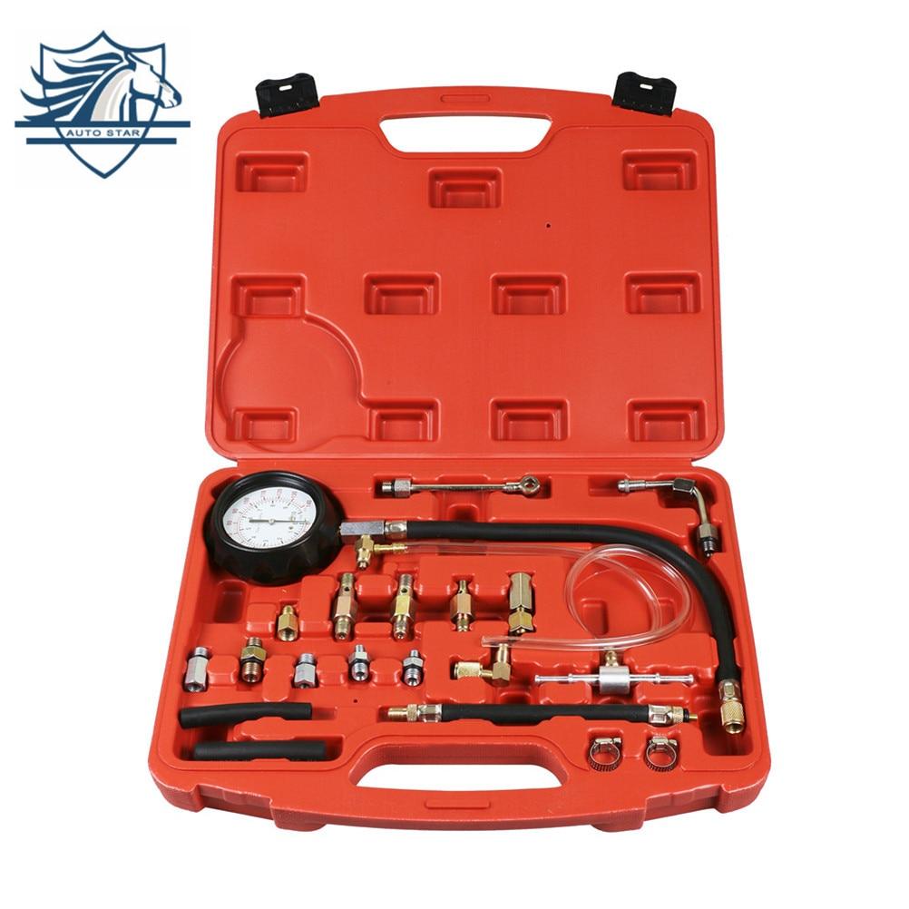 0-140 PSI Fuel Injection Pump Injector Tester Pressure Gauge Gasoline Fuel Pressure Detection Tool Gasoline Pressure Gauge