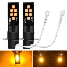 Ampoule de voiture, 2 pièces, H3 LED Super ampoule Led, Source de lumière pour voitures, lampe antibrouillard blanche, orange, H3 6000 Super