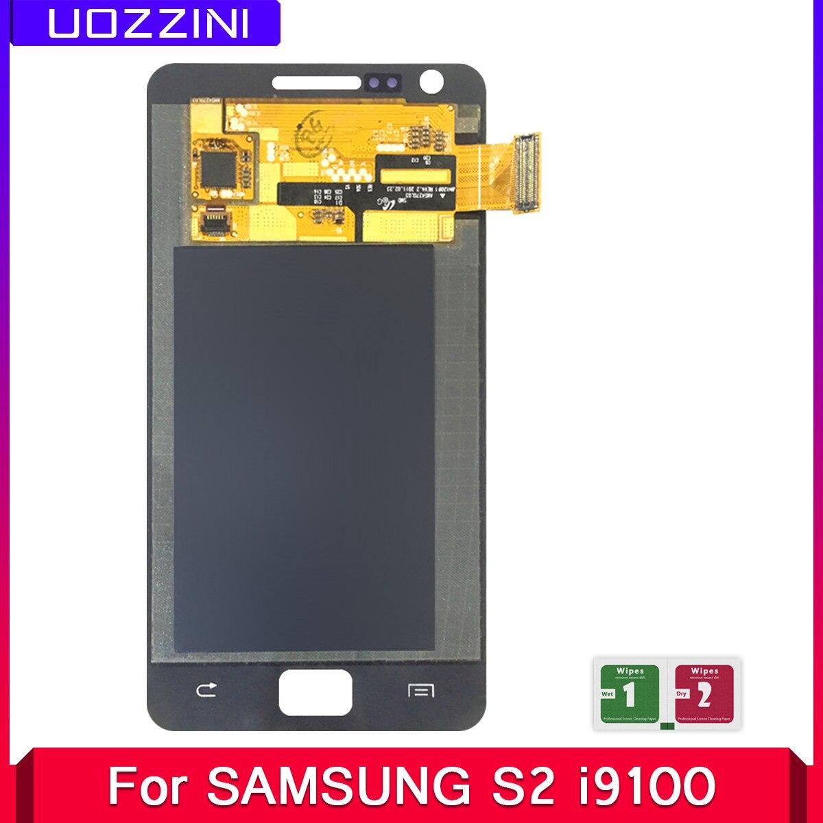 2 uds. Super AMOLED para samsung S2 I9100 I9105 pantalla LCD reemplazo para samsung i9105 i9100 pantalla lcd módulo