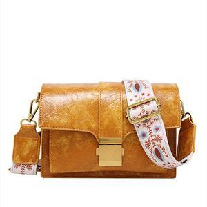 Fashion Mini Handbags women ins ultra fire retro wide shoulder strap messenger bag purse and handbag simple style Crossbody Bags