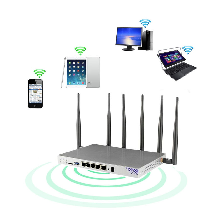 cioswi high power openwrt router 3g 4g wifi router modem with 4 lan and sim card slot smart gigabit router for usb 3 0 1200 mbps 1200 Mbps multifunction 3G 4G modem router with Sim card slot Wifi dual-band router EP06 4G mobile router CAT6WiFi router 2.4/5G