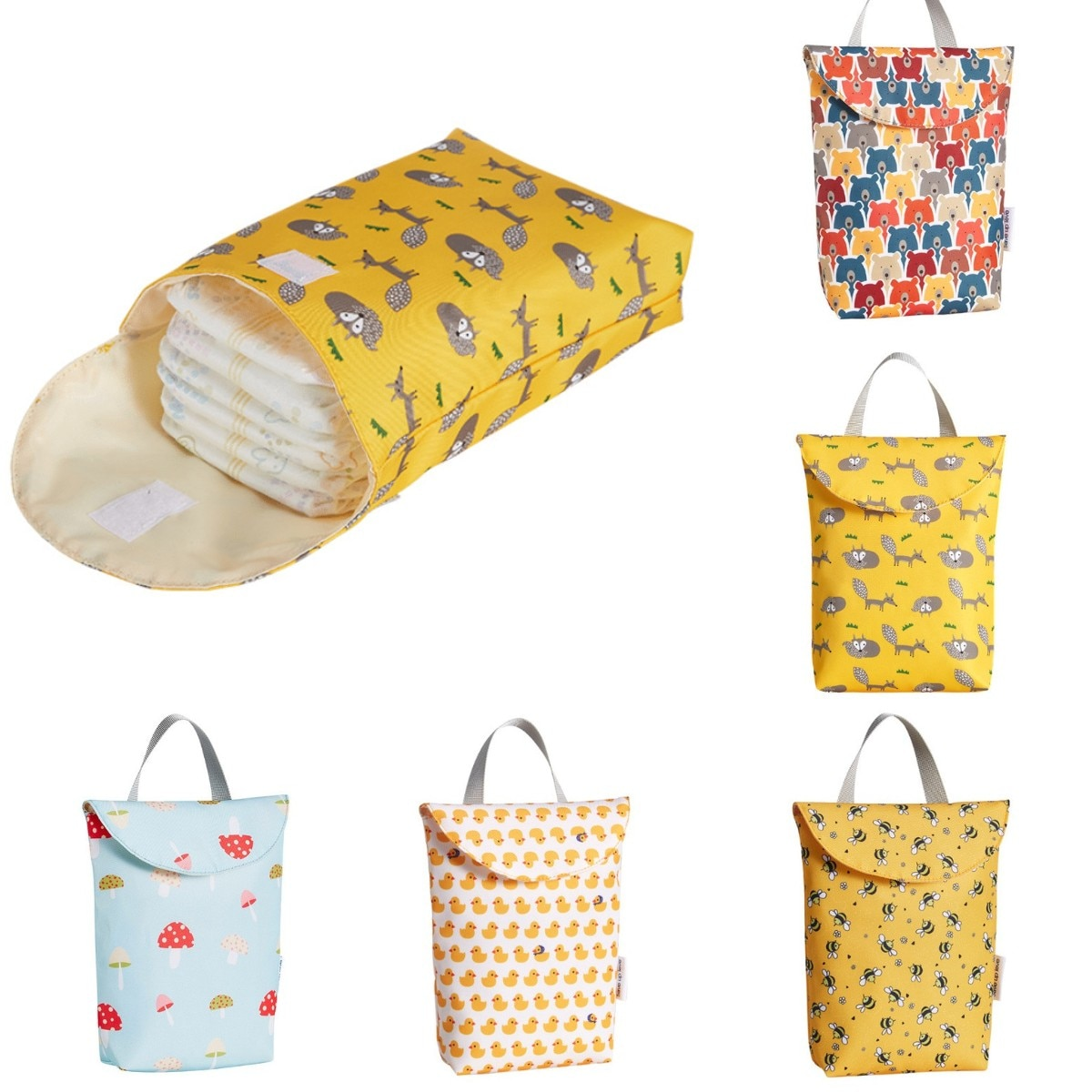 Baby Diaper Nappy Bags For Mom Reusable Multifunctional Waterproof Diaper Organizer Fashion Portable Big Capacity Mummy Bag Gift