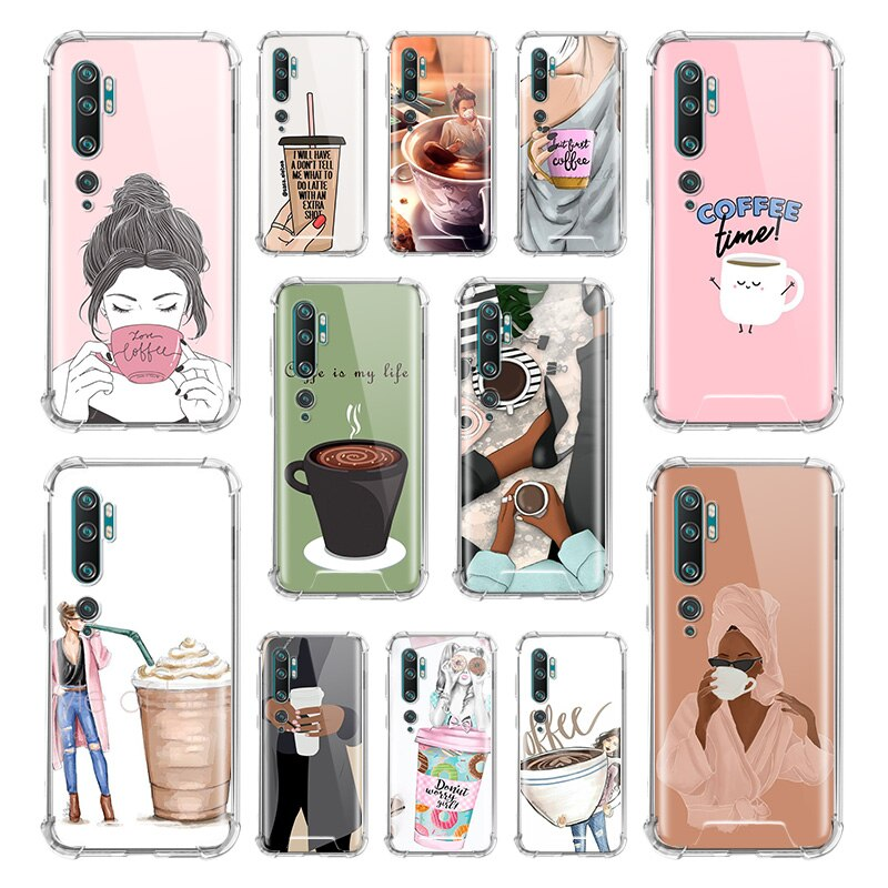 Funda de café Boss para Xiaomi Mi Note 10 9 CC9 9T Pro 5G CC9E A2 Lite X2, funda de teléfono de TPU anticaída para chica