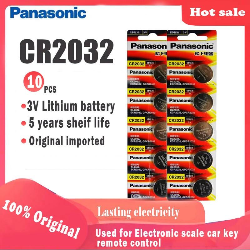 10pcs Original Panasonic cr2032 cr 2032 3V Lithium-Batterie Für Uhr computer Fernbedienung Rechner taste cell-münze batterie