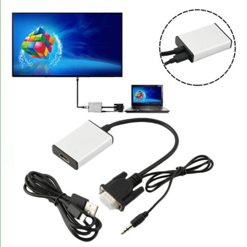 Full HD 1080P VGA macho a HDMI hembra convertidor adaptador Cable de...