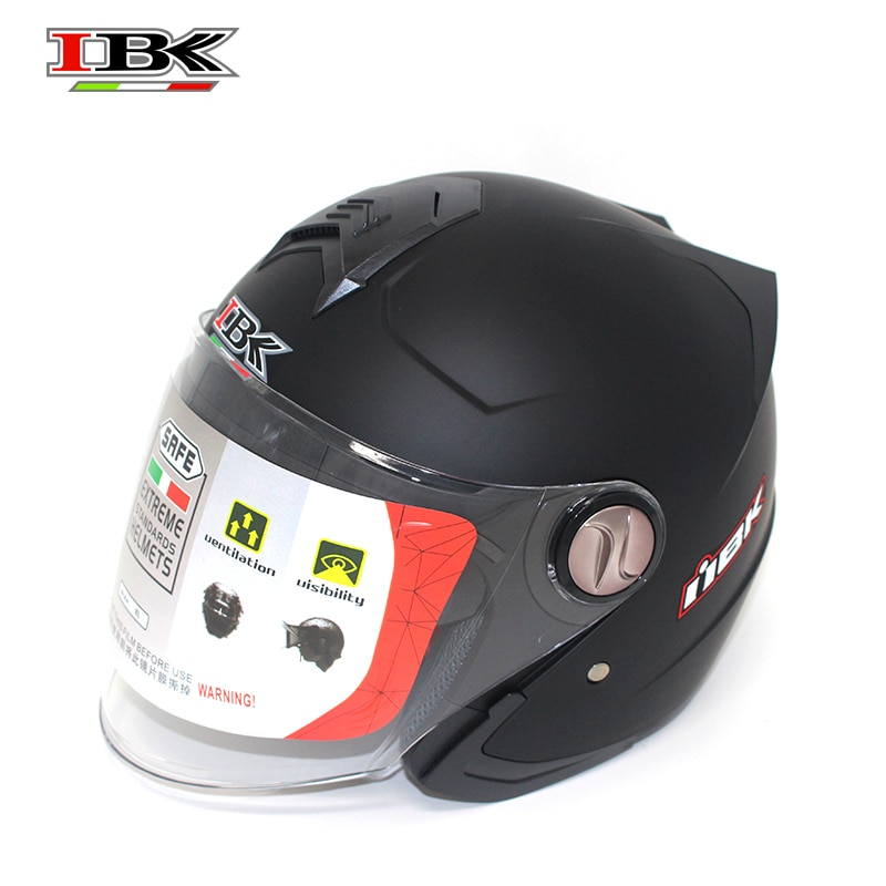IBK Motorbike Protective Helmet Electric Bicycle Scooter Casco Unisex 3/4 Double Visor Summer matte Helmet IBK-720