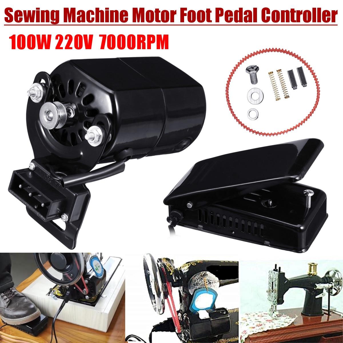 220v/110V 100W 0,5 Ампер швейная машина с мотором на 7000 r/мин для швейной машины, полировальная машинка для ног контроллер комплект ручной работы акс...