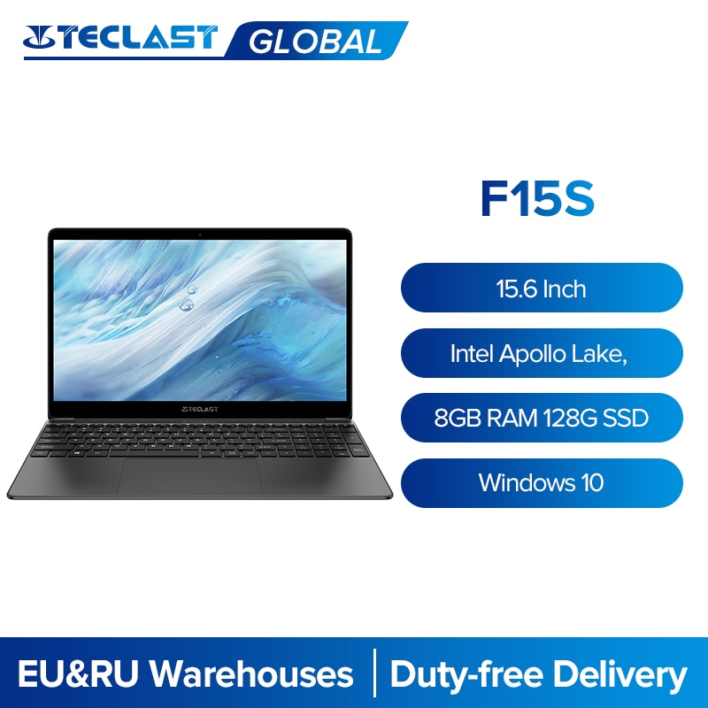 Teclast F15S 15.6'' Inch Laptop 1920x1080 Computer Windows 10 OS Notebook 8GB RAM 128GB ROM Intel Ap