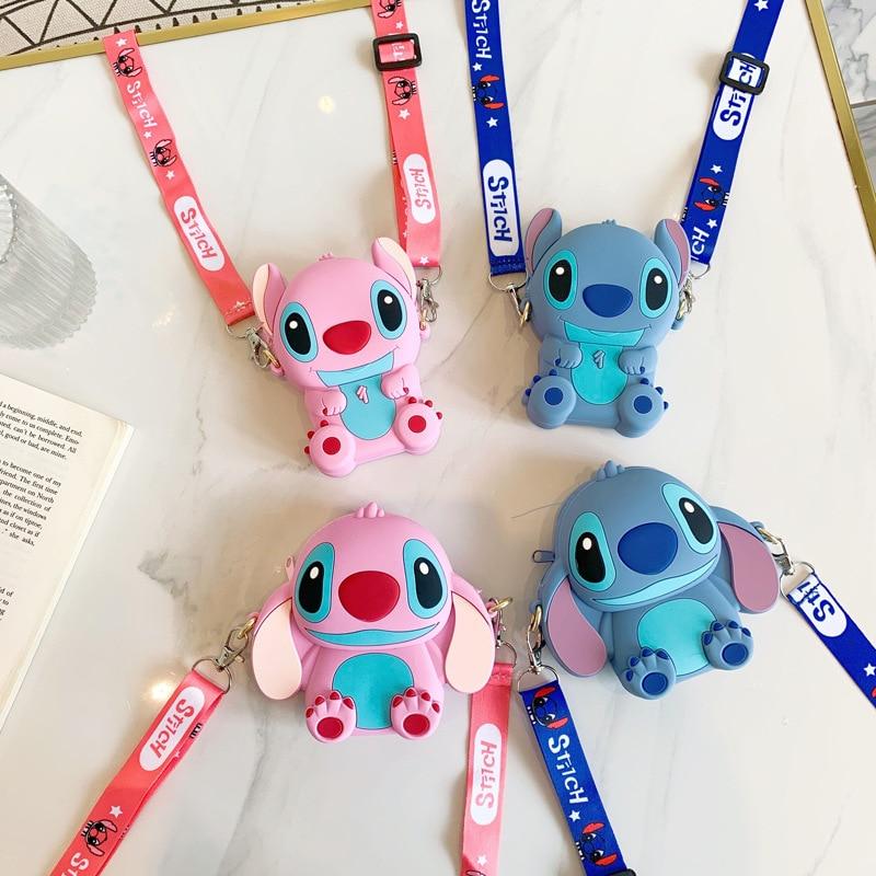 AliExpress - Disney Stitch Silicone Coin Purse Cartoon Cute Anime Figure Shoulder Bag Children's Student Messenger Fashion Kid Gifts