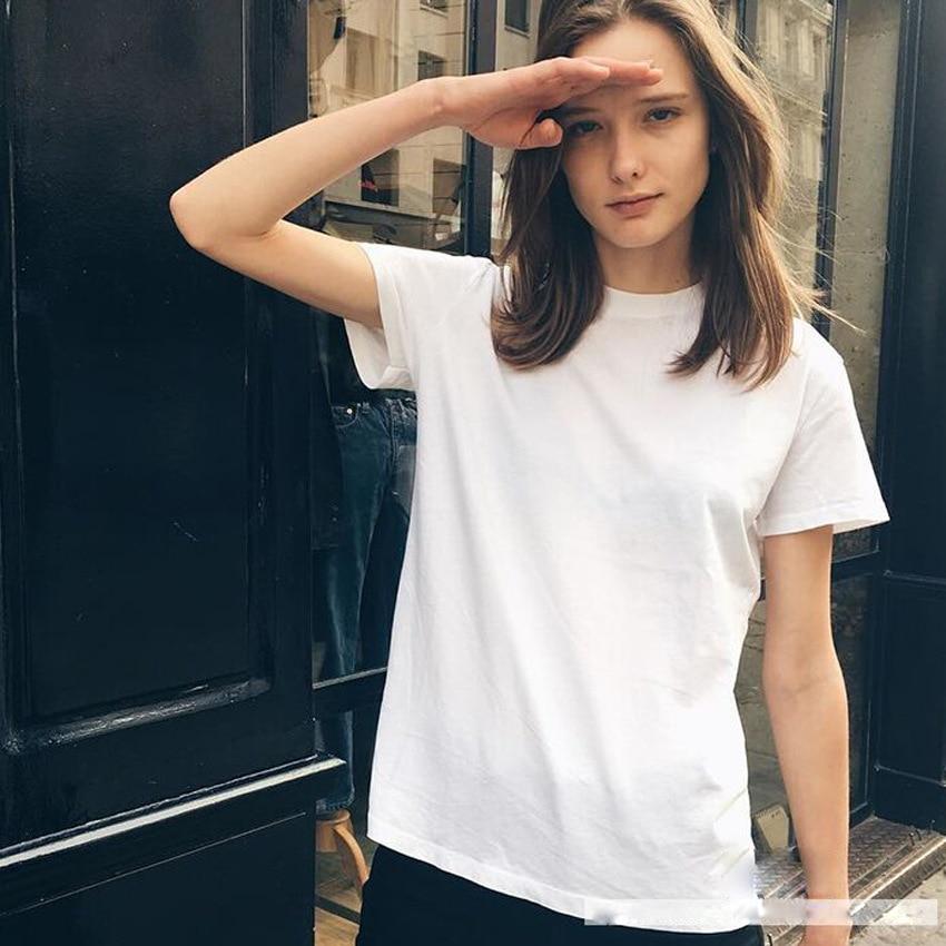 Camisetas para mujer, camisetas de moda para mujer, camisetas para mujer, camiseta blanca marrón, camiseta azul de manga corta