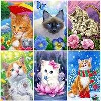 diy cat 5d diamond painting full square drill rhinestones animal diamont embroidery cross stitch mosaic home decor wall art gift