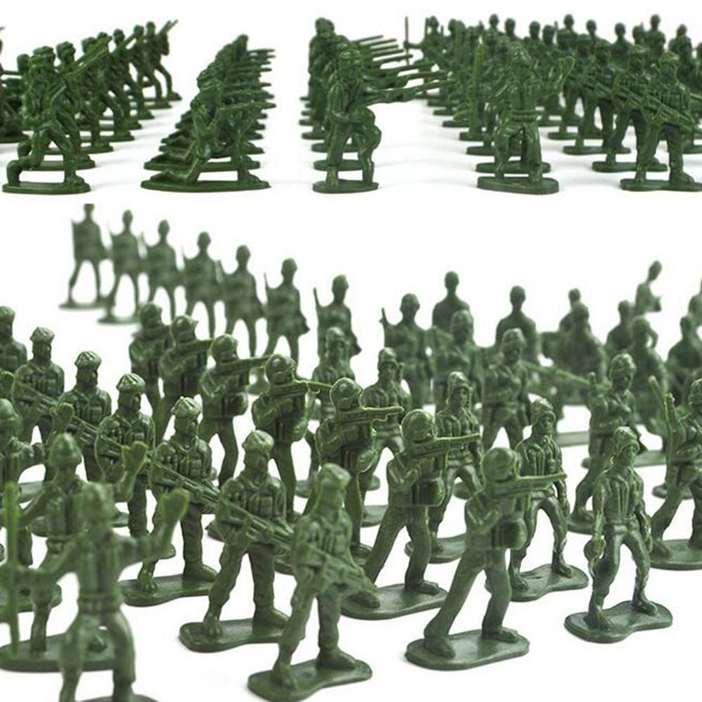 100Pcs Mini Classic Military Soldiers Figures Models Playset Desk Decor Toddler Army Men Kids Toy Gift Accessories Children Toy 100pcs high soldier model military sandbox game plastic toy soldier army men figures for children s toy dolls gift