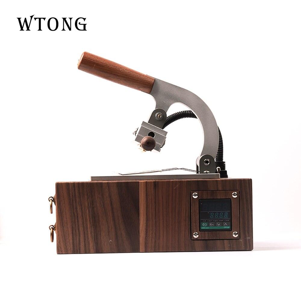 WTONG handheld, logotipo personalizado, máquina de estampado caliente de cuero, logo de marca, máquina de estampación en caliente