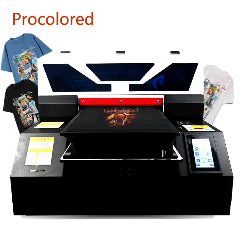 Impresoras DTG Procolored 2020 textil tamaño A3 de impresión para camisetas, ropa, pantalones vaqueros, camiseta, impresora A4 de impresora plana