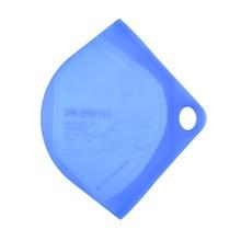6 Colors N95 Mask Storage Clip Moisture Proof Anti-dust Reusable Half Transparent Durable Face Shield Storage Boxes Dropshipping