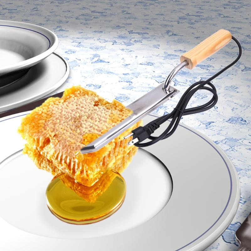 US/EU/UA enchufe eléctrico cuchillo de miel equipo de apicultura de abeja cuchillo de corte cuchillo de calefacción herramientas de madera raspador de acero inoxidable
