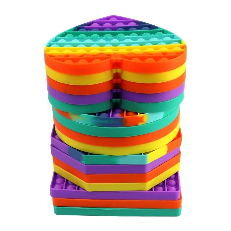 Big Size Push Bubble Popit Fidget Toys  Funny Autism Needs Squishy Stress Reliever Toys Adult Kid Anti-stress Pop It Fidget enlarge