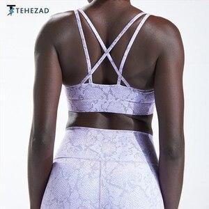 TEHEZAD Women Yoga Sport Bra  Large Size Workout Tank Push Up Top Gym Underwear Female Clothing Fitness Running Ladies Camis