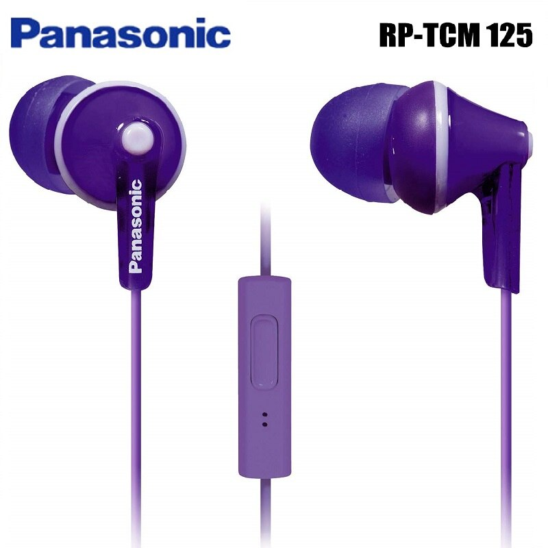 Original Panasonic RP-TCM125 In-Ear Earbuds Headsets Music Earphones 3.5mm Universal for Samsung Xiaomi huawei mobile phone