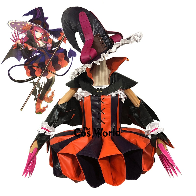 FGO destin Grand ordre Halloween Hallowmas roulette Elizabeth Bathory étape 1-3 robe uniforme jeux Anime personnaliser Cosplay Costumes