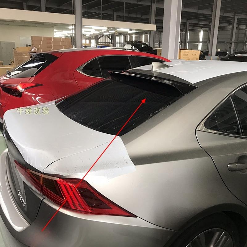 Para Lexus IS200 IS250 IS300 spoiler PMMA material techo coche parasol spoiler 2012-2017