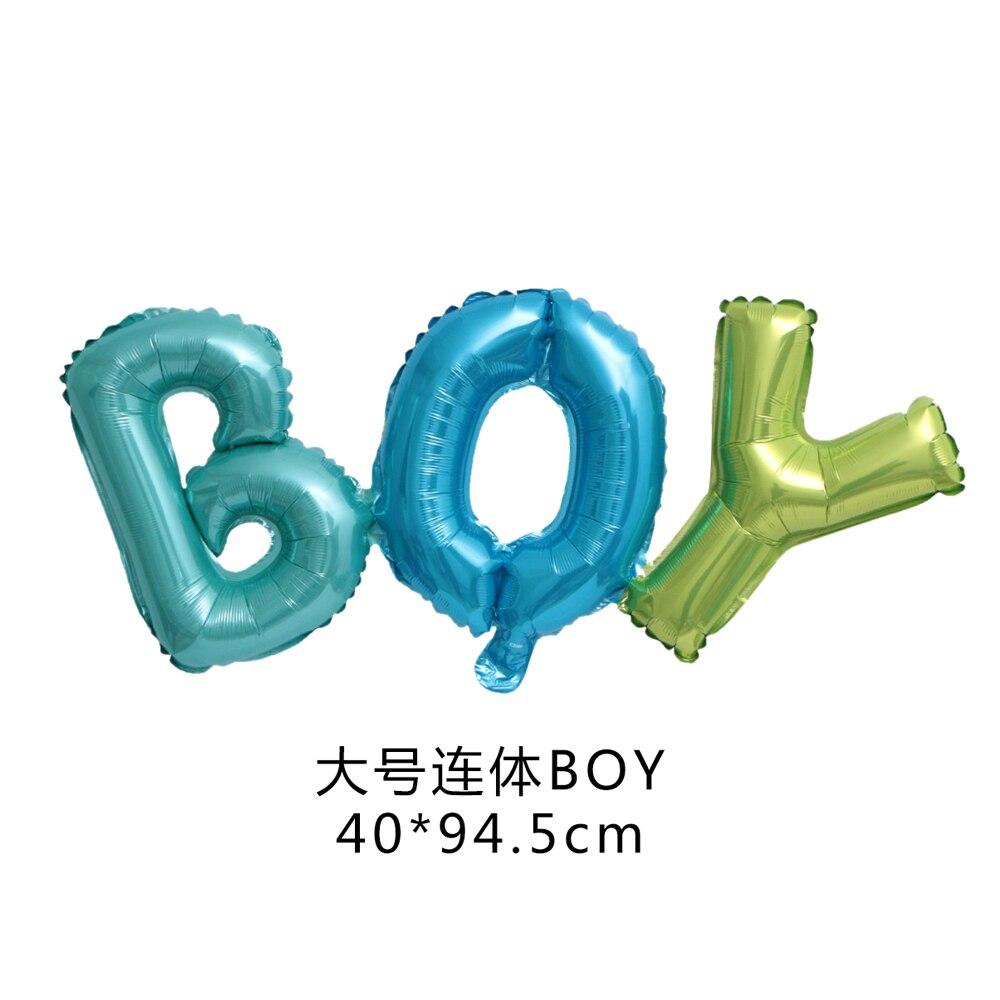 Купить с кэшбэком Link Baby Boy Girl Letter Foil Balloons Baby Shower Birthday Wedding Party Large Size Connect Baby Alphabet Air Globos Decor