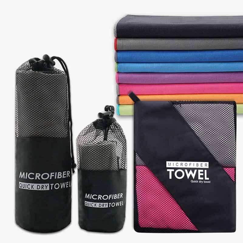 Toallas absorbentes de microfibra de secado rápido para deportes acuáticos, manta de viaje, toalla de natación para el hogar, ducha, baño cara y manos, paño para Fitness